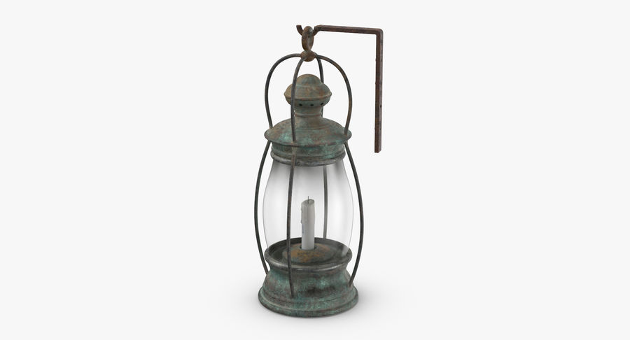 Ship Candle Lantern Mounted royalty-free 3d model - Preview no. 4