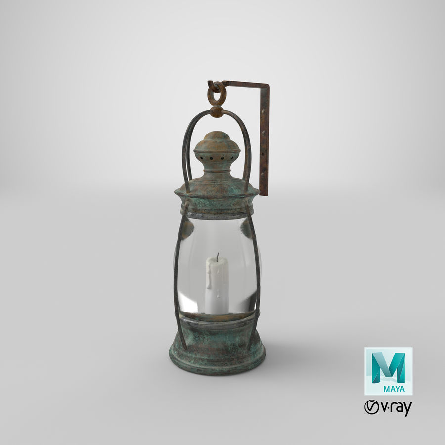Ship Candle Lantern Mounted royalty-free 3d model - Preview no. 21