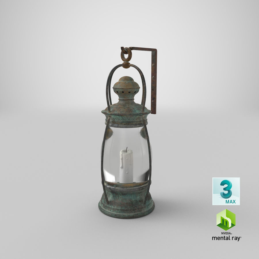 Ship Candle Lantern Mounted royalty-free 3d model - Preview no. 24