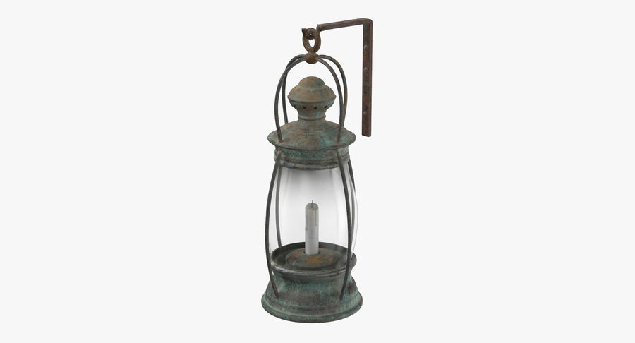 Ship Candle Lantern Mounted royalty-free 3d model - Preview no. 2