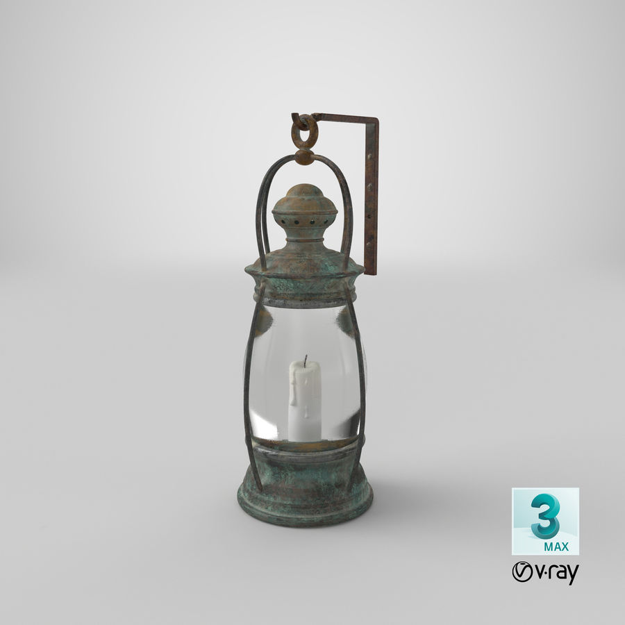 Ship Candle Lantern Mounted royalty-free 3d model - Preview no. 23