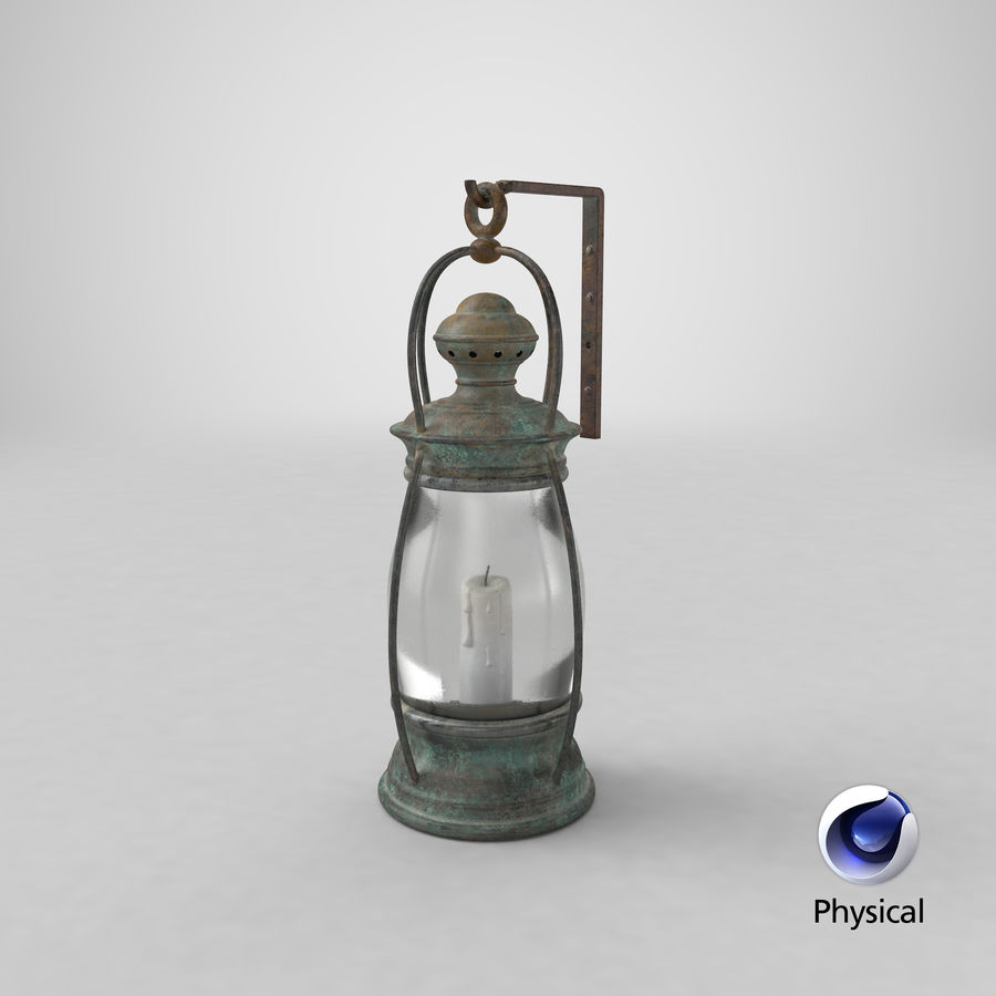 Ship Candle Lantern Mounted royalty-free 3d model - Preview no. 27