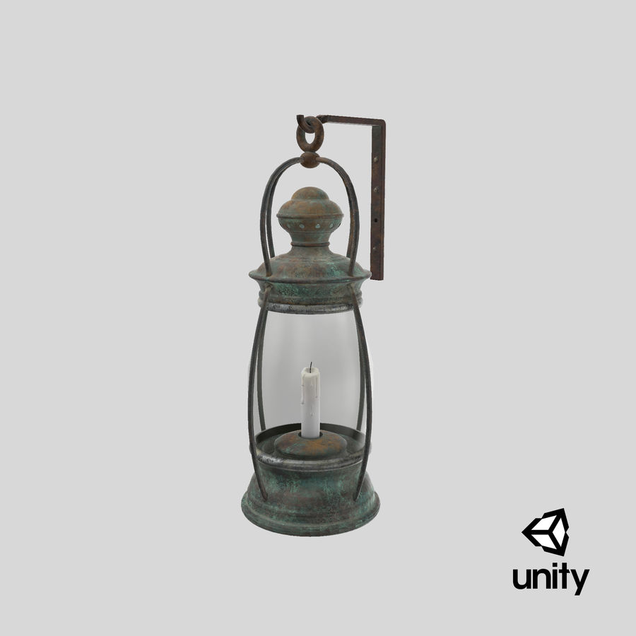 Ship Candle Lantern Mounted royalty-free 3d model - Preview no. 26