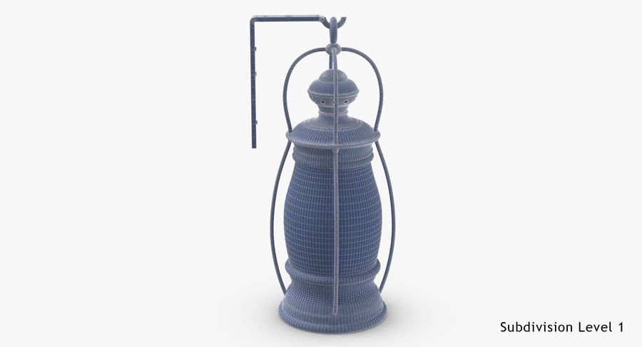 Ship Candle Lantern Mounted royalty-free 3d model - Preview no. 19