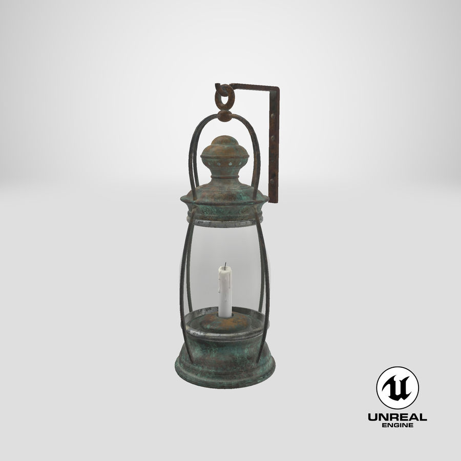 Ship Candle Lantern Mounted royalty-free 3d model - Preview no. 25