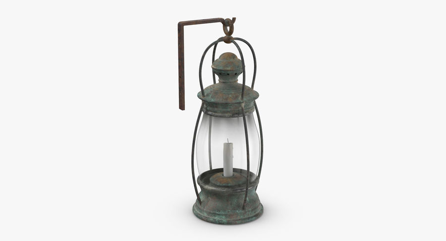 Ship Candle Lantern Mounted royalty-free 3d model - Preview no. 5