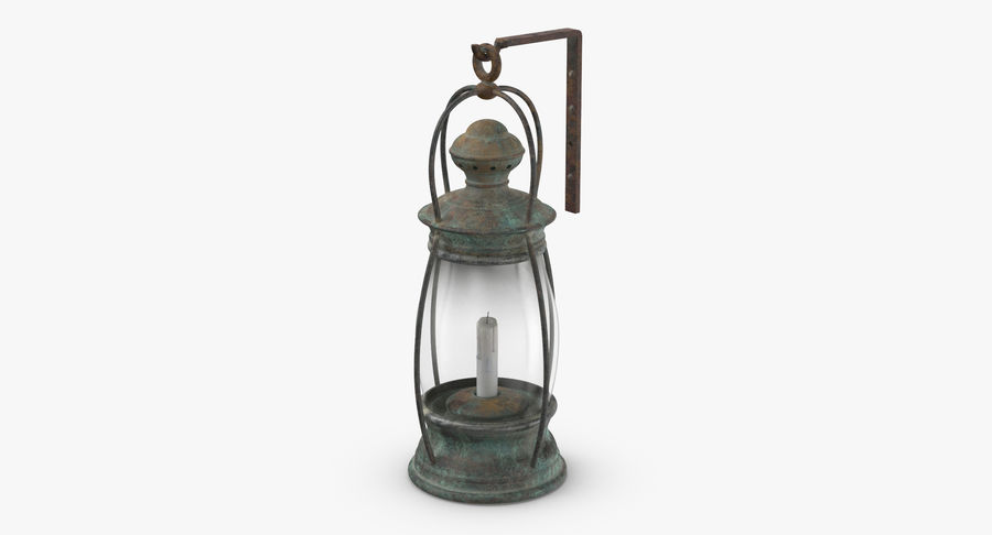 Ship Candle Lantern Mounted royalty-free 3d model - Preview no. 3