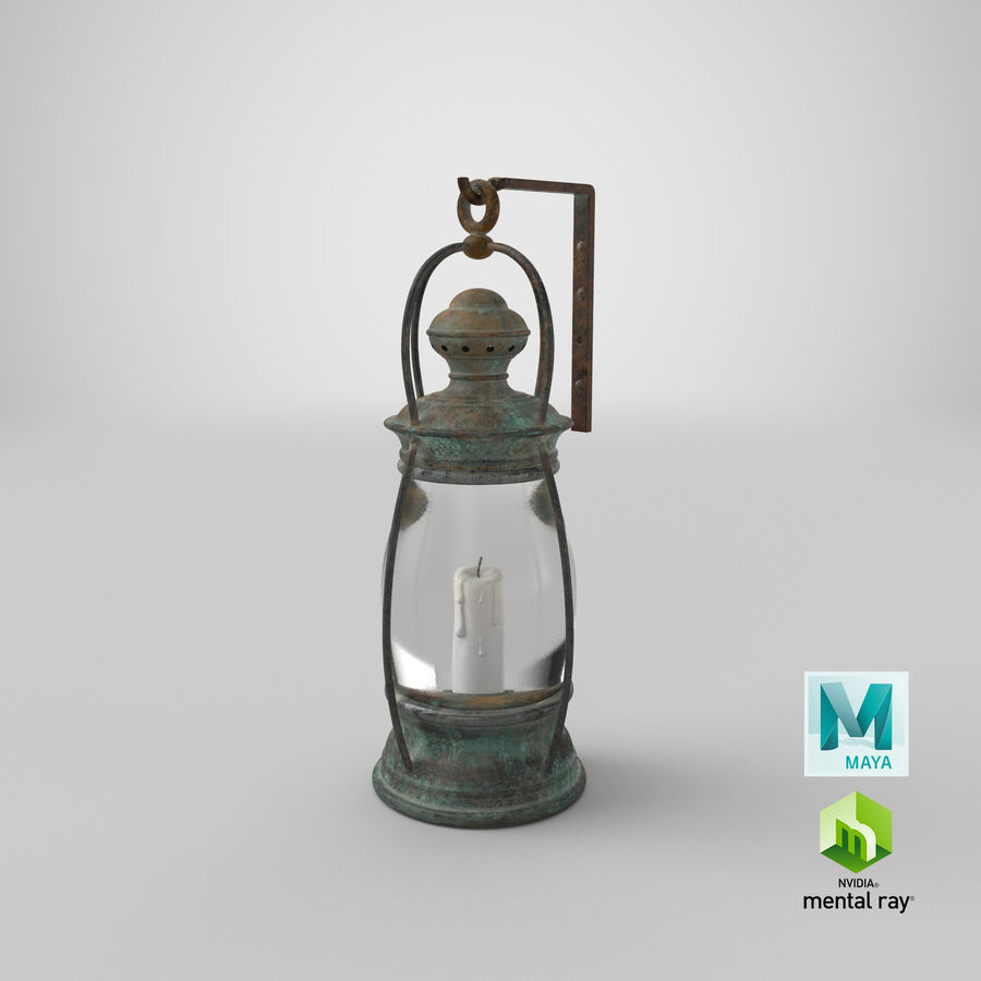 Ship Candle Lantern Mounted royalty-free 3d model - Preview no. 22