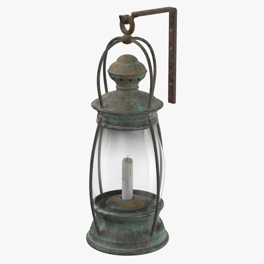 Ship Candle Lantern Mounted royalty-free 3d model - Preview no. 1