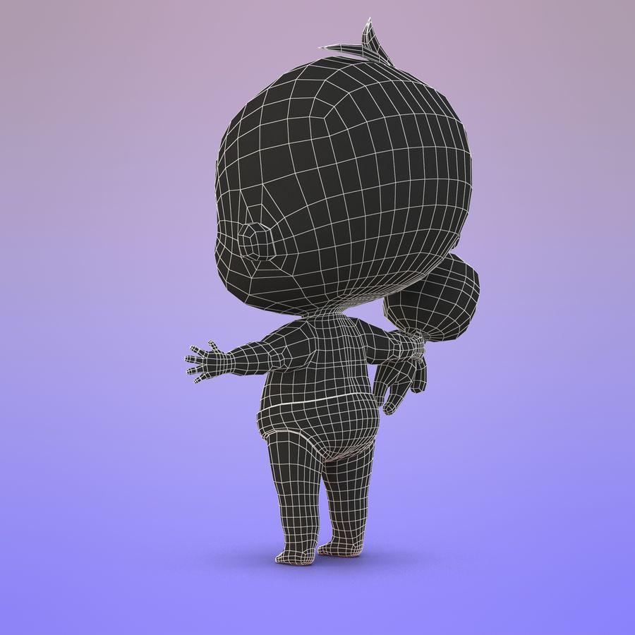 Bébé dessin animé royalty-free 3d model - Preview no. 20