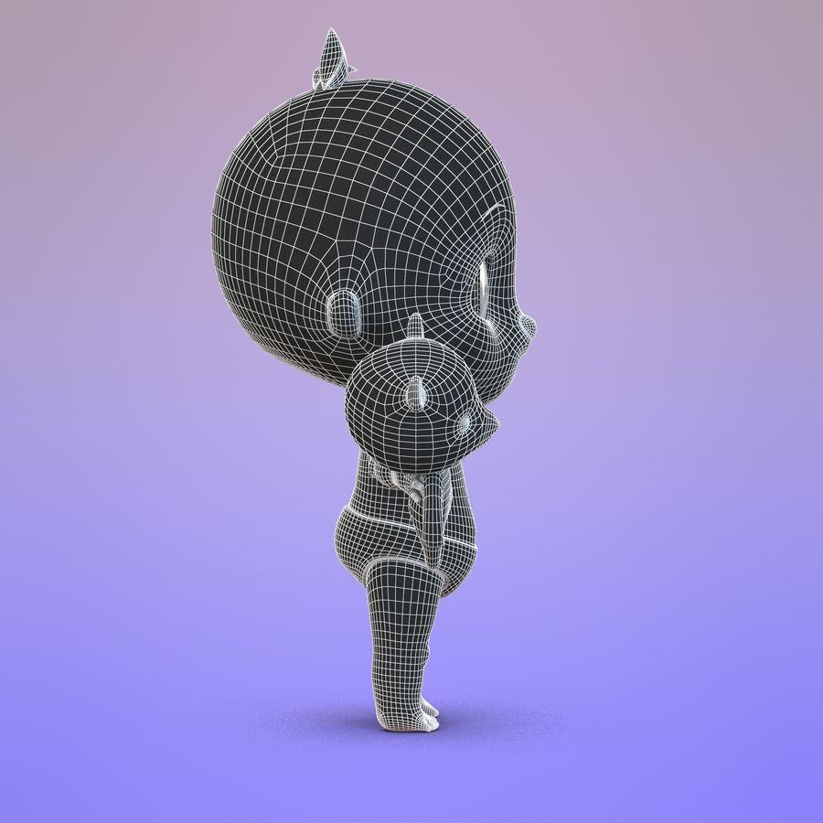 Bébé dessin animé royalty-free 3d model - Preview no. 17