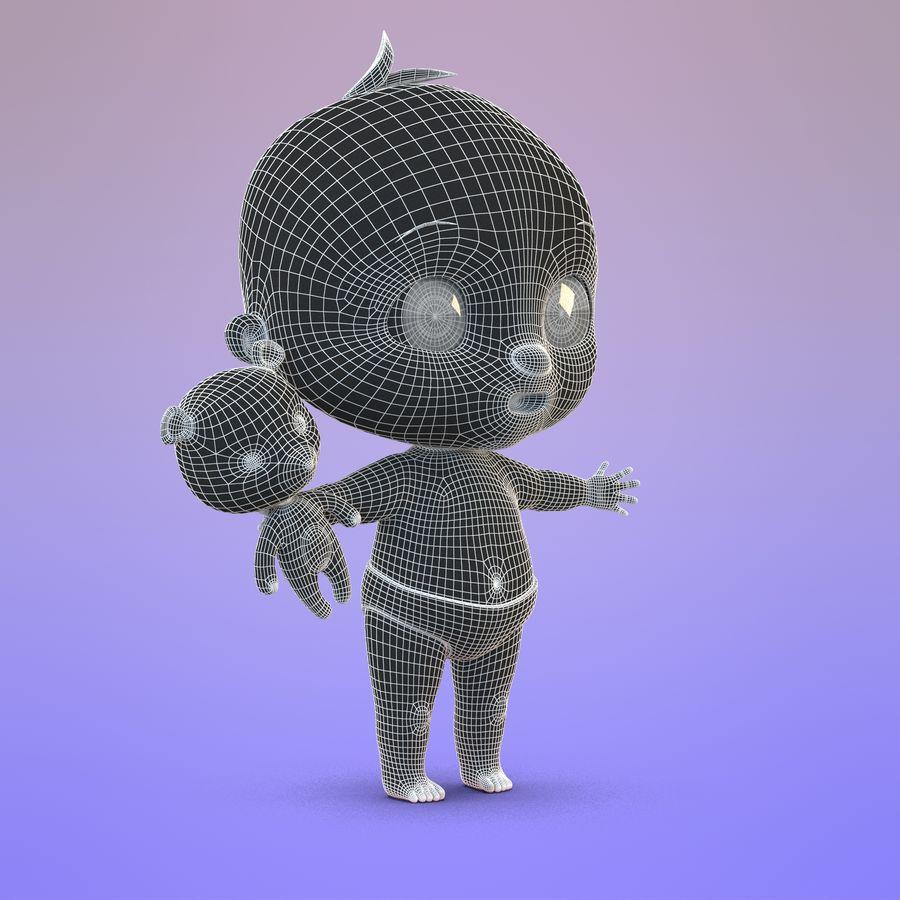 Bébé dessin animé royalty-free 3d model - Preview no. 18