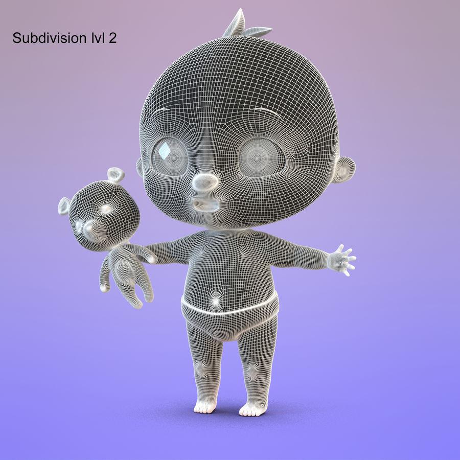 Bébé dessin animé royalty-free 3d model - Preview no. 14