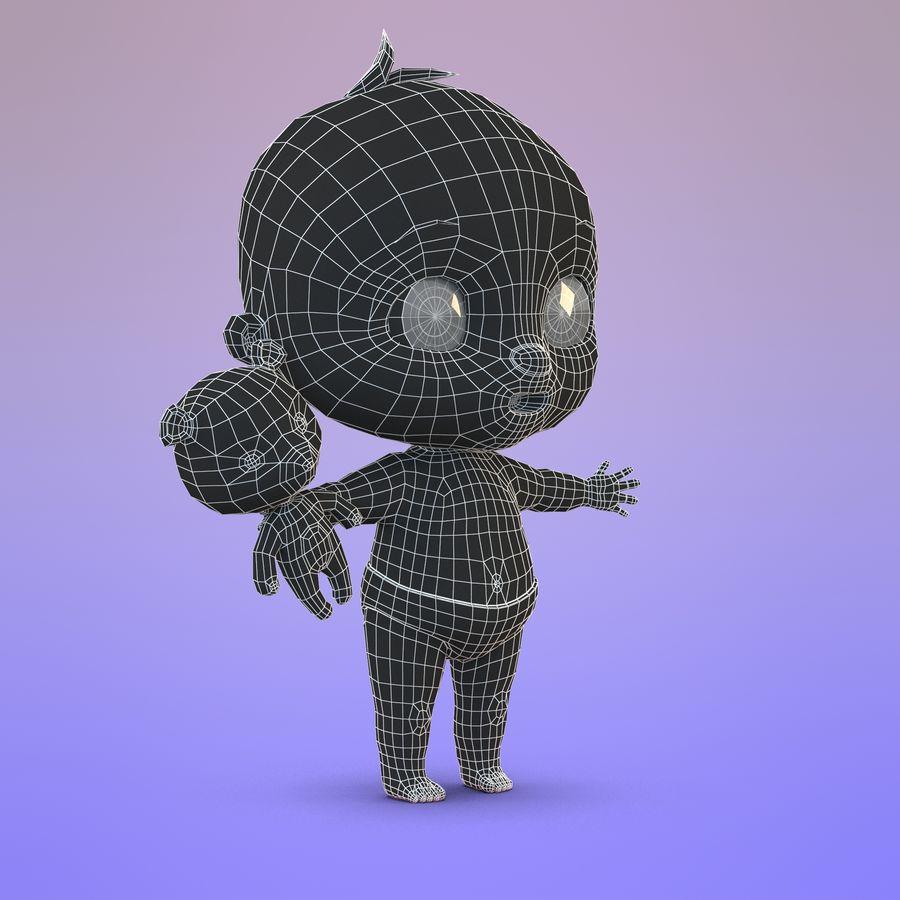 Bébé dessin animé royalty-free 3d model - Preview no. 22