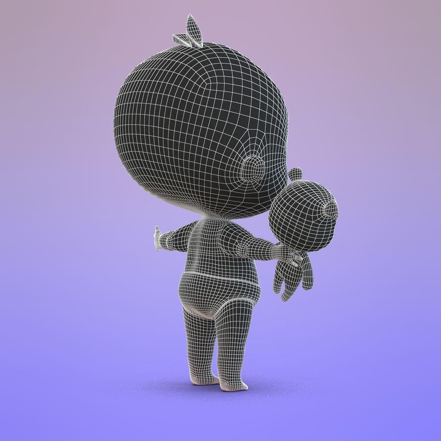 Bébé dessin animé royalty-free 3d model - Preview no. 16