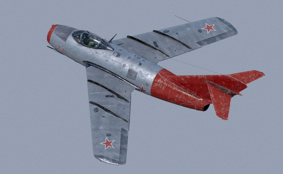 mig-15 royalty-free 3d model - Preview no. 6