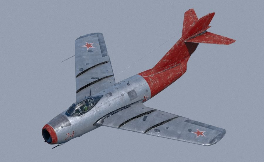mig-15 royalty-free 3d model - Preview no. 7