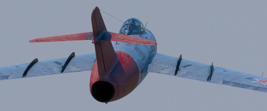 mig-15 royalty-free 3d model - Preview no. 5