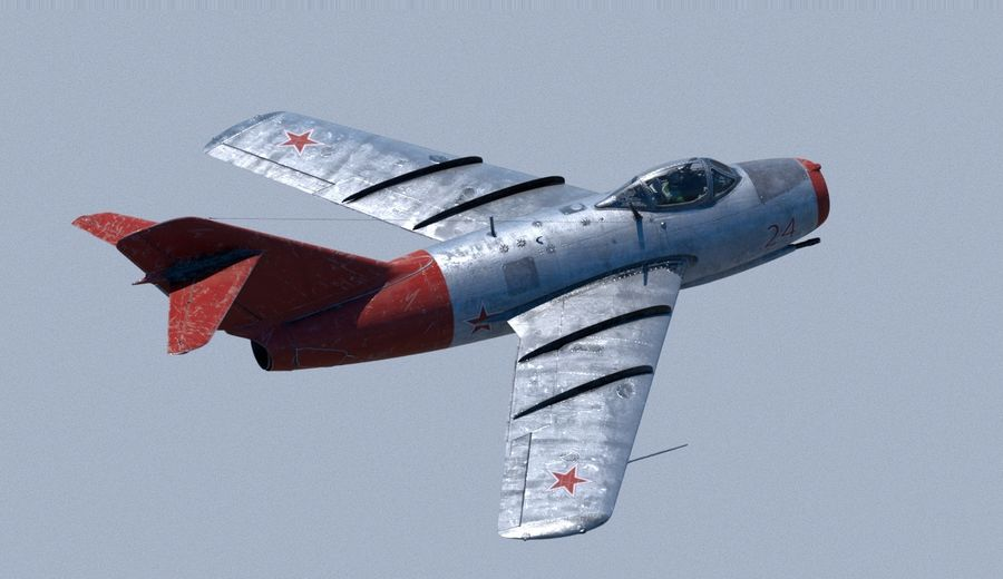 mig-15 royalty-free 3d model - Preview no. 4