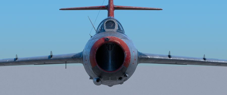 mig-15 royalty-free 3d model - Preview no. 2