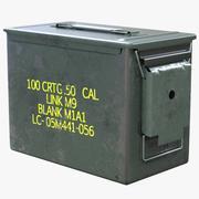 Vintage US Ammunition Box 3d model