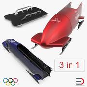 Coleção de modelos 3D de trenós olímpicos 3d model