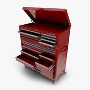 Coffre à outils pour mécanicien avec coffre supérieur 3d model