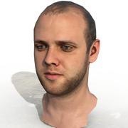 Head Male - Game Ready - SAM 3d model
