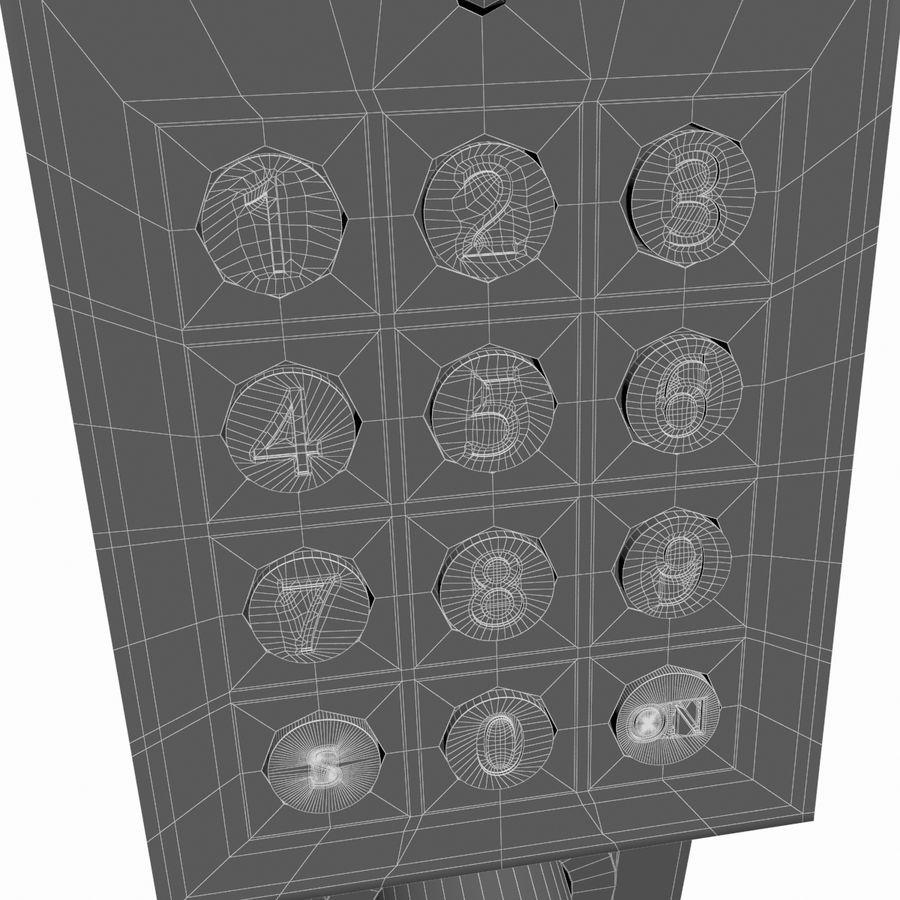 Nadgarstek z cyfrową szafką na kod royalty-free 3d model - Preview no. 12