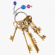 Klucze z pękiem kluczy 3d model