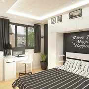 Small Bedroom Interior Scene 3d model