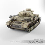 Alman tankı PzKpfw IV Ausf G '23' 3d model