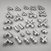 Collection de raccords de tuyauterie 2 3d model