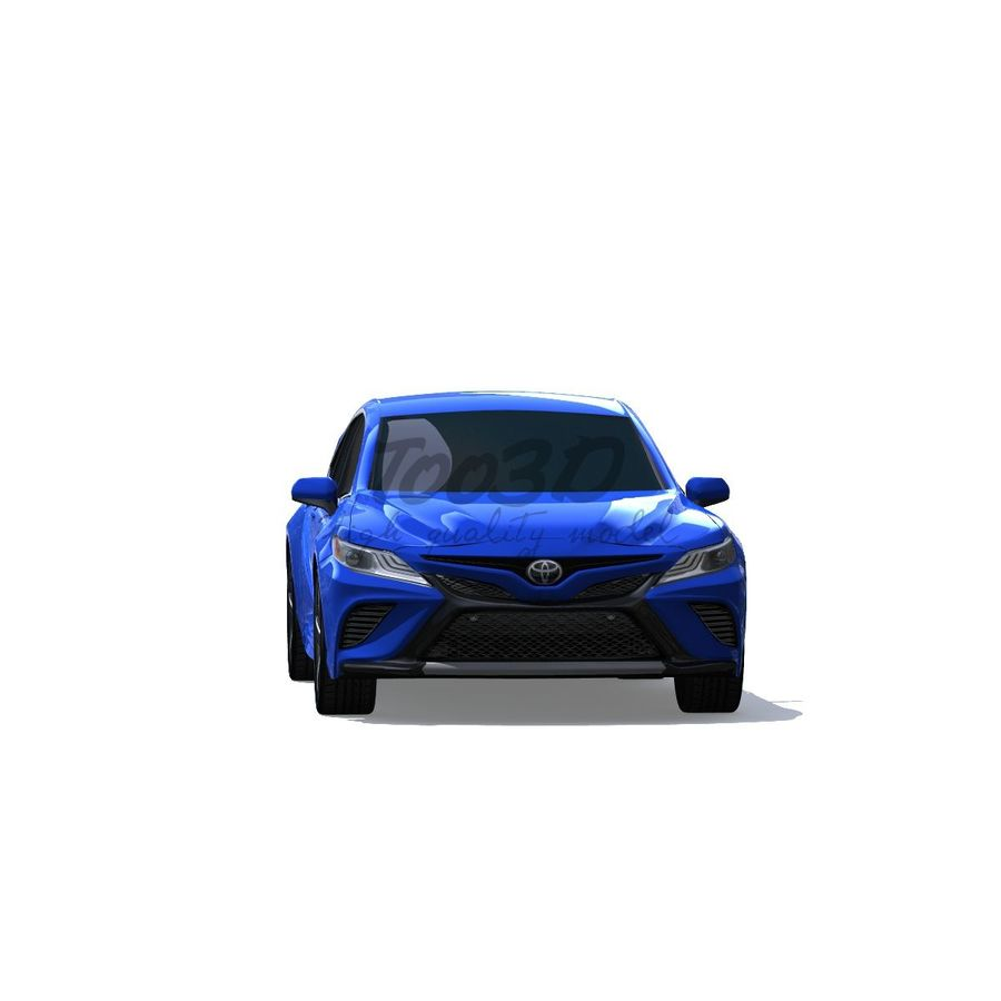 Camry 2018 royalty-free 3d model - Preview no. 6
