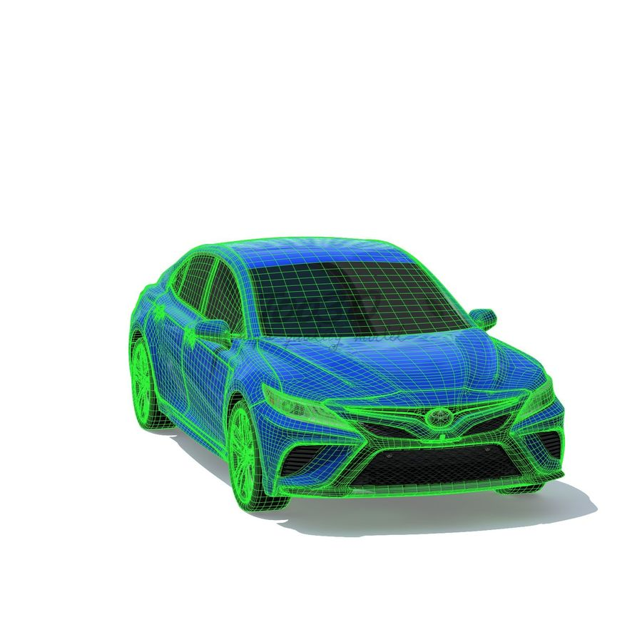 Camry 2018 royalty-free 3d model - Preview no. 12