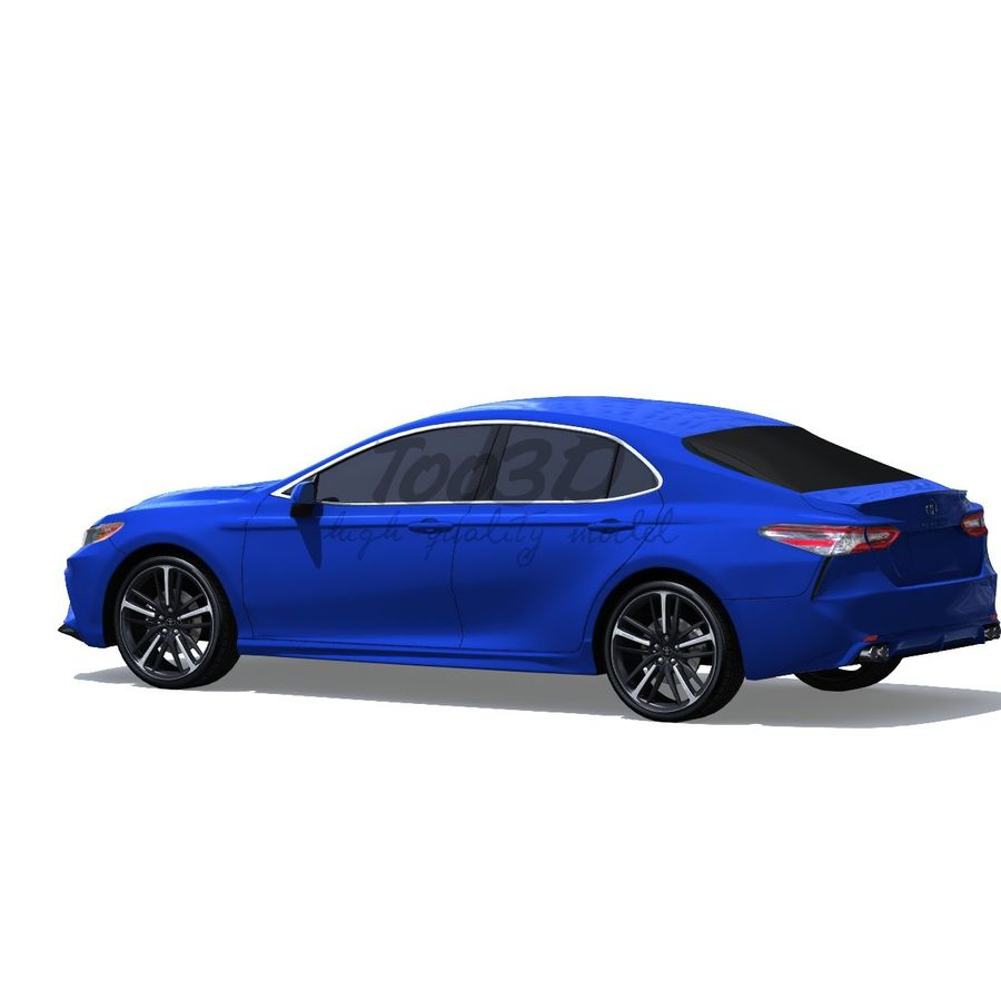 Camry 2018 royalty-free 3d model - Preview no. 3