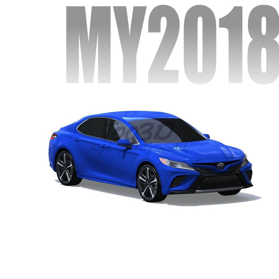 Camry 2018 royalty-free 3d model - Preview no. 1