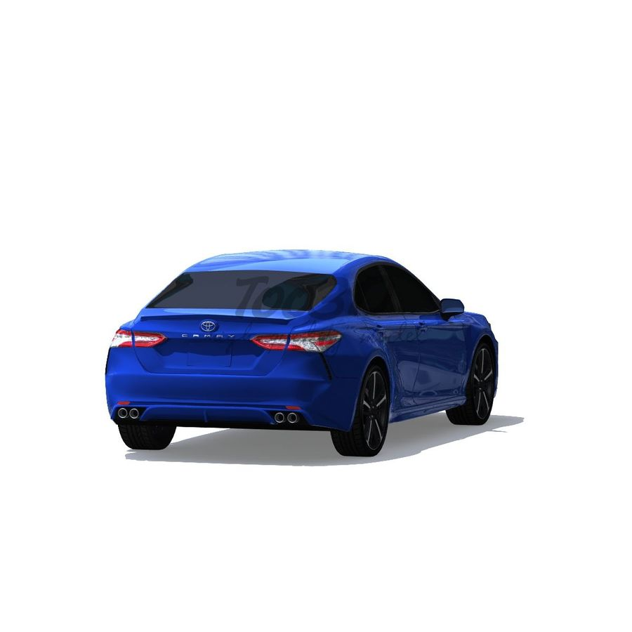 Camry 2018 royalty-free 3d model - Preview no. 4