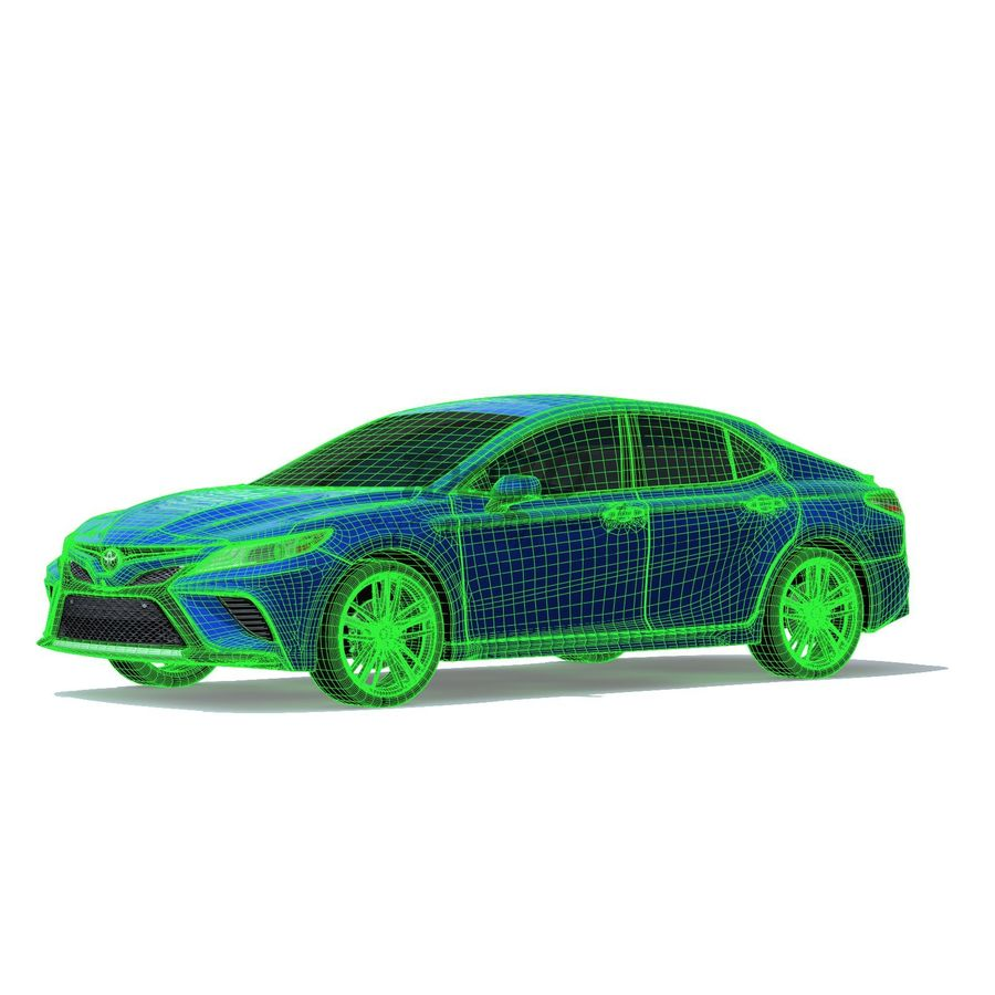 Camry 2018 royalty-free 3d model - Preview no. 8