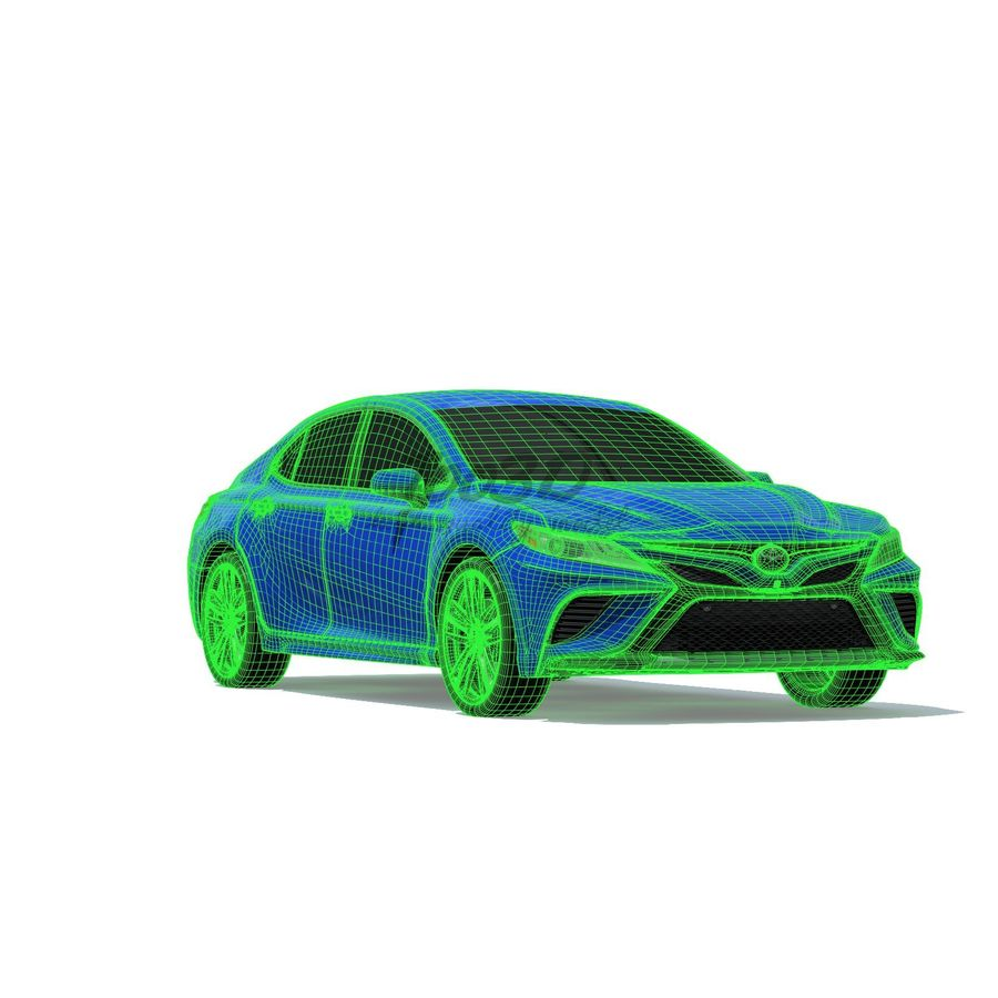 Camry 2018 royalty-free 3d model - Preview no. 7