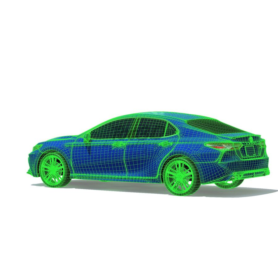 Camry 2018 royalty-free 3d model - Preview no. 9