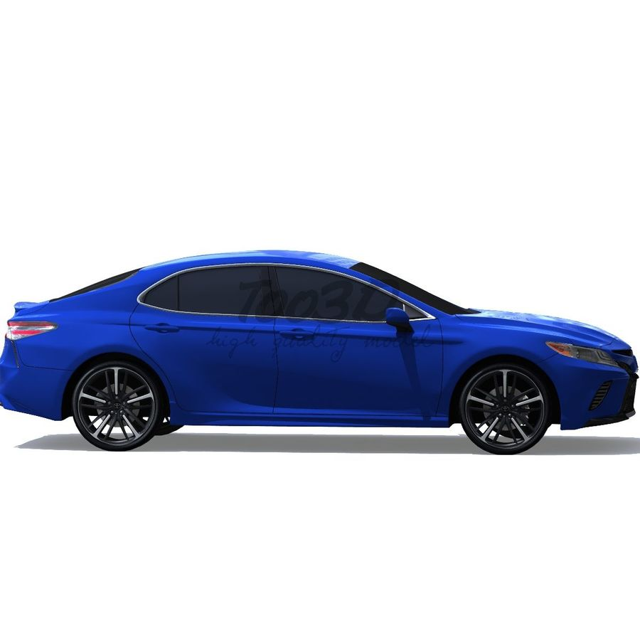 Camry 2018 royalty-free 3d model - Preview no. 5