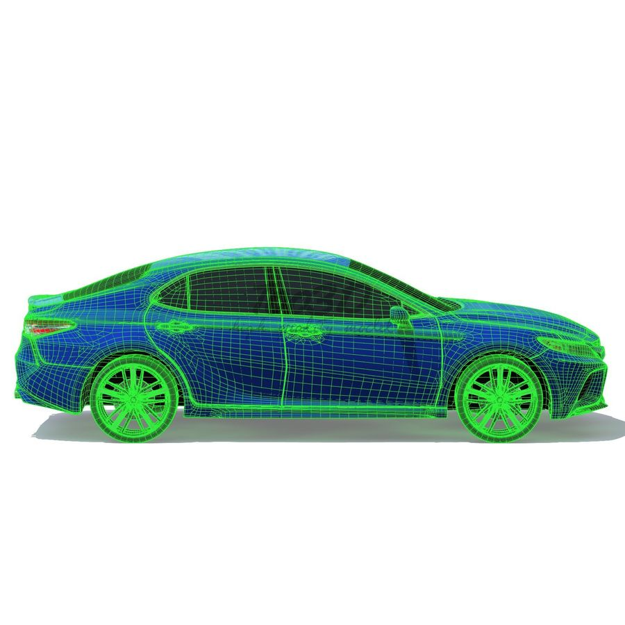 Camry 2018 royalty-free 3d model - Preview no. 11