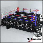HD Boxing  ring 3d model
