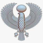 Horus, il dio egizio del falco 3d model
