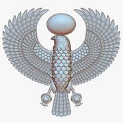 Horus, el dios halcón egipcio modelo 3d
