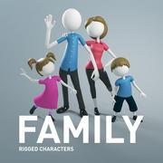 Familia: personaje aparejado modelo 3d