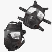 Bloody Police Riot Gas Helms Poses 3d model
