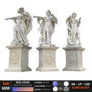 古代雕塑Monumen 3d model