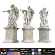 Ancient sculpture Monumen 3d model